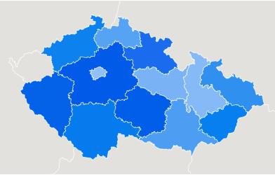 Mapa oblíbenosti magnetického rybaření v Česku