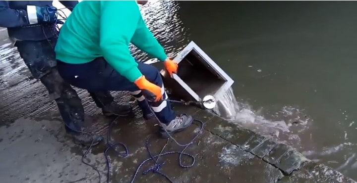 nález trezoru magnet fishing