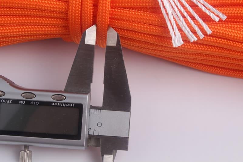 oranžové lano paracord hrúbka 5mm