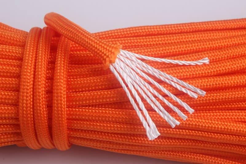 Lano paracord oranžové 9 vlákien