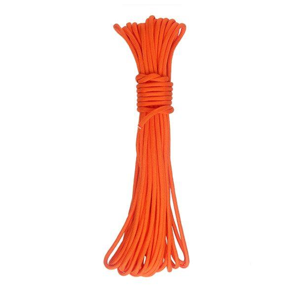 oranžové lano paracord 15 metrů