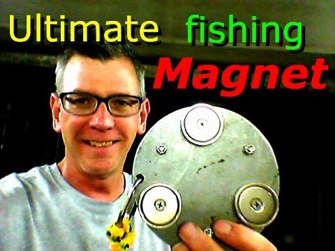 oboustranná pomůcka na magnet fishing vyrobená z úchytů
