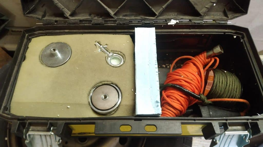 druhá verze kufříku pro sadu magnet fishing