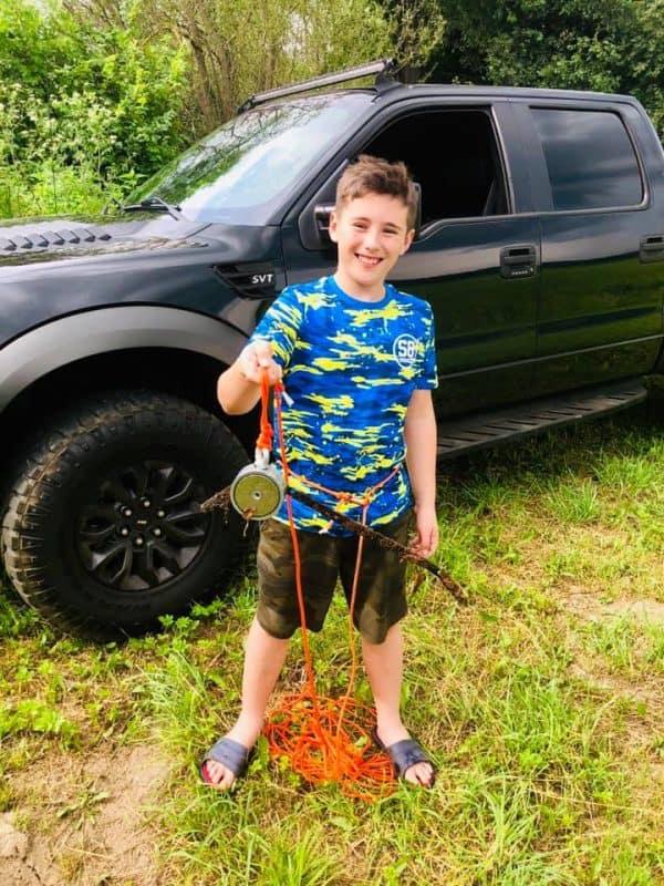 Otec se synem poprvé na lovu