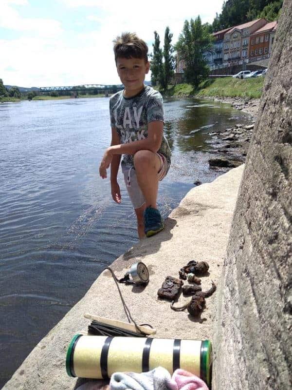 Syn českého magnet fishera