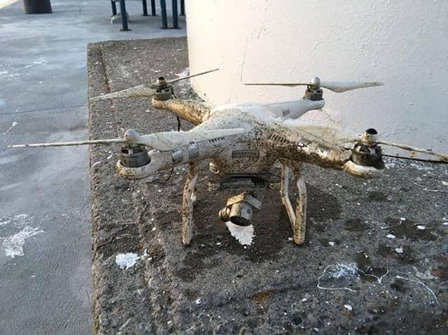 zkorodovaný úlovek dronu