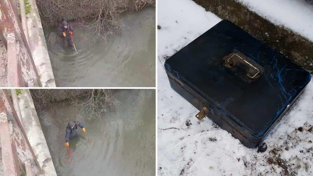 Pokladna nalezena v zimě