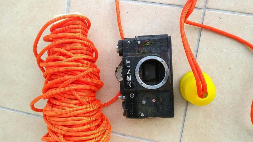 lano a úlovek fotoaparátu