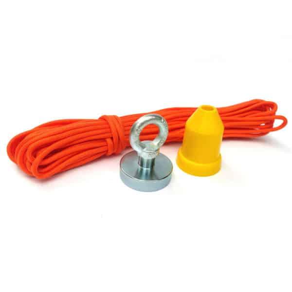 magnet 94 kg + ochranný kužel + lano 15 metrů